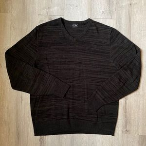 PD&C V-neck sweater black and gray men's Medium